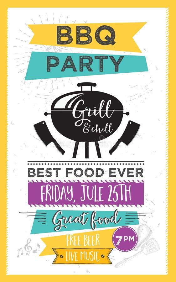 barbecue party invitation bbq template menu design food flyer