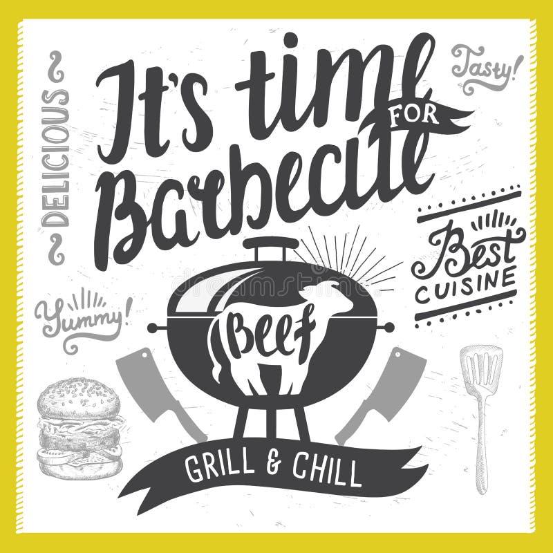 Barbecue party invitation. stock vector. Illustration of invite ...