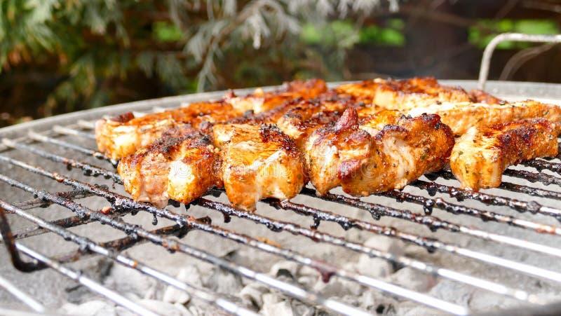 Barbecue pork belly royalty free stock photos
