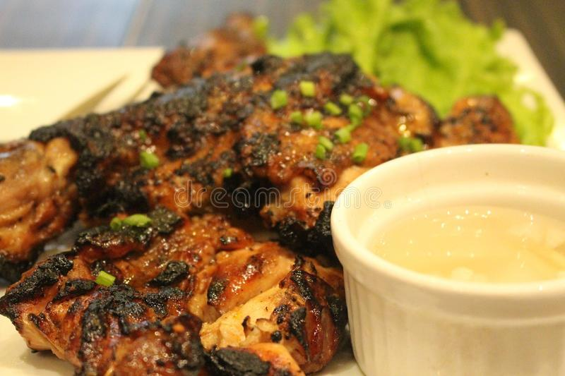 Barbecue rôti de poulet photo stock