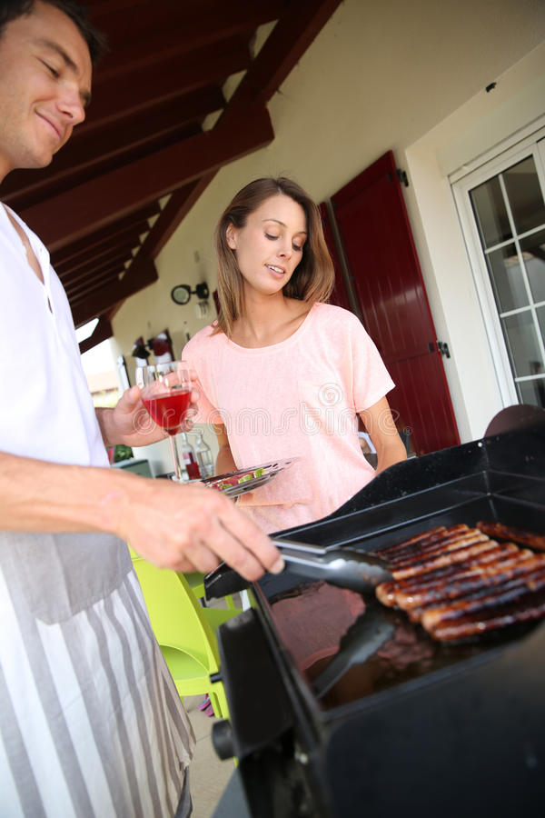 Barbecue is ready stock photos