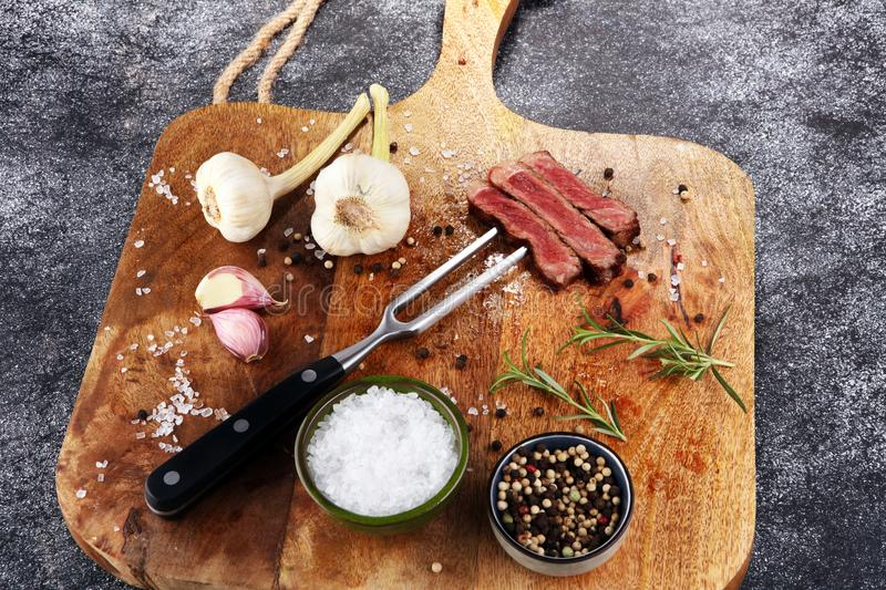 Barbecue Rib Eye Steak, dry Aged Wagyu Entrecote Steak.  stock photos