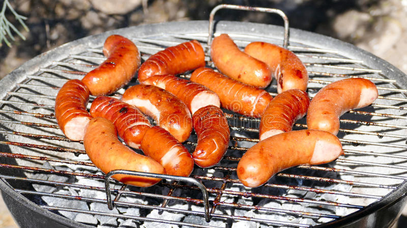 Barbecue sausage stock photography