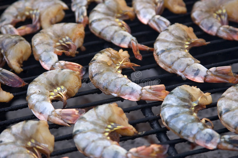 Barbecue Shrimp royalty free stock image