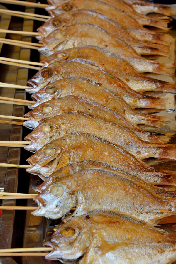 Barbecue of snapper fish