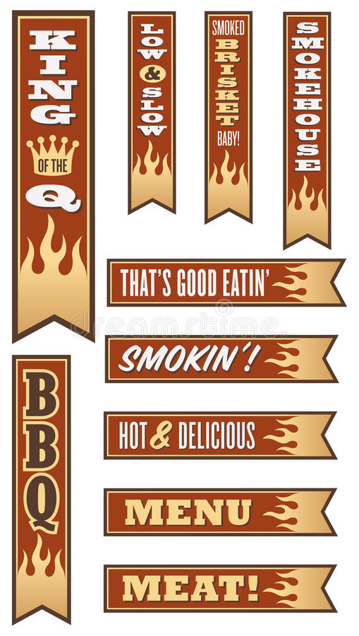 Barbecuebanners stock illustratie