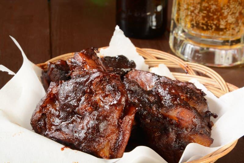 barbecued нервюры свинины стоковые изображения rf