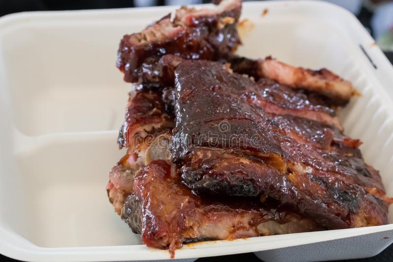 Barbecued Baby Back Ribs stock photography