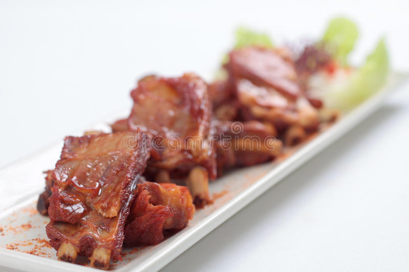 Barbecued Chinse style lamb ribs royalty free stock image
