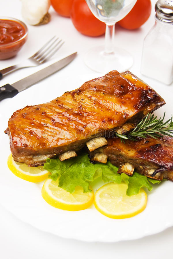 Download Barbecued ribs stock photo. Image of eating, potato, nobody - 17685512