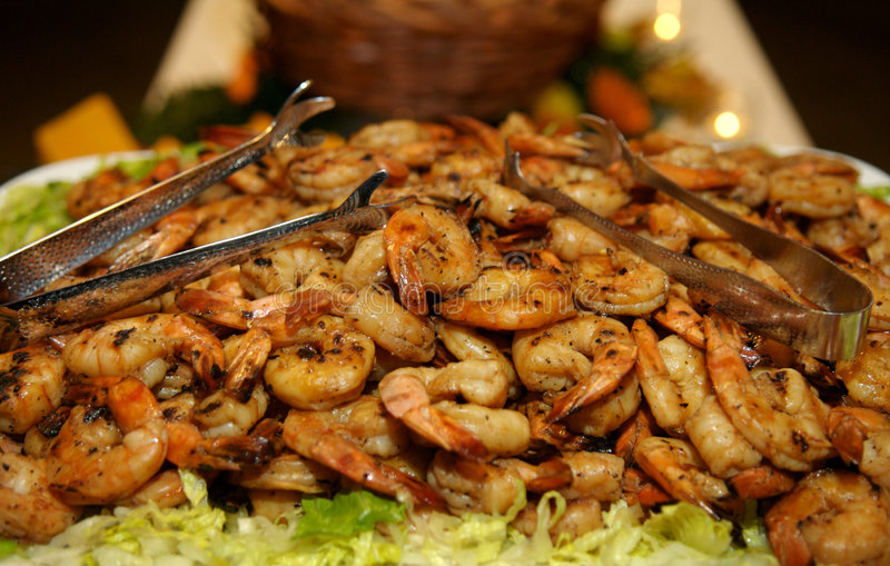 Download Barbecued shrimp stock photo. Image of grilled, seafood - 2603160
