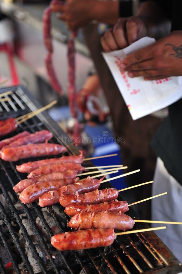 Free Barbecued Taiwan Sausage Royalty Free Stock Image - 8378126