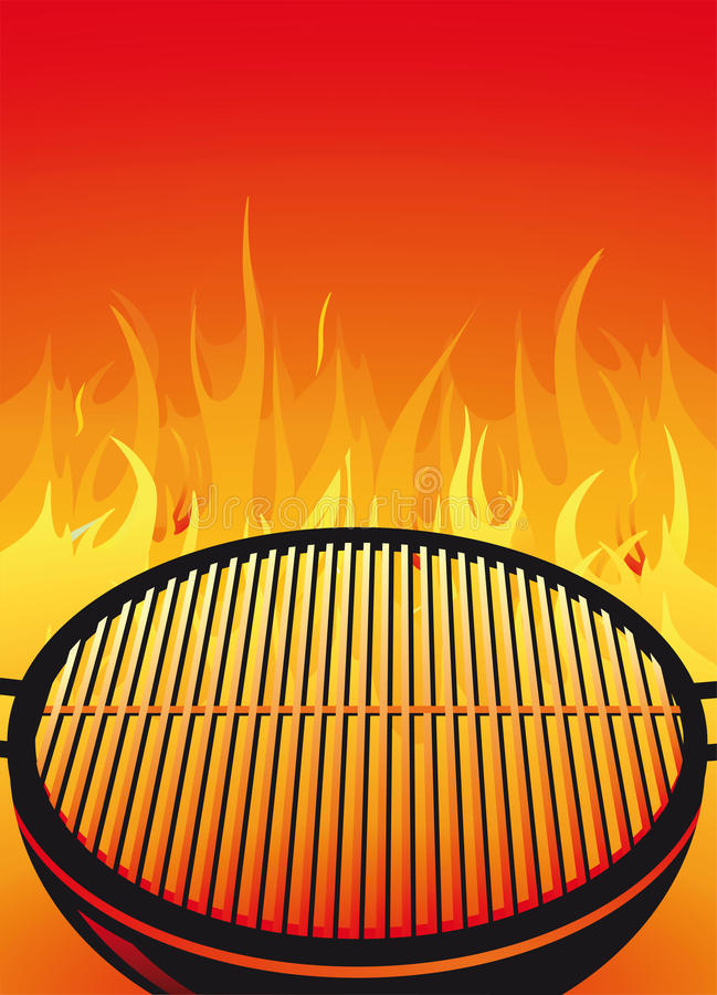 Barbecuegrill stock illustratie