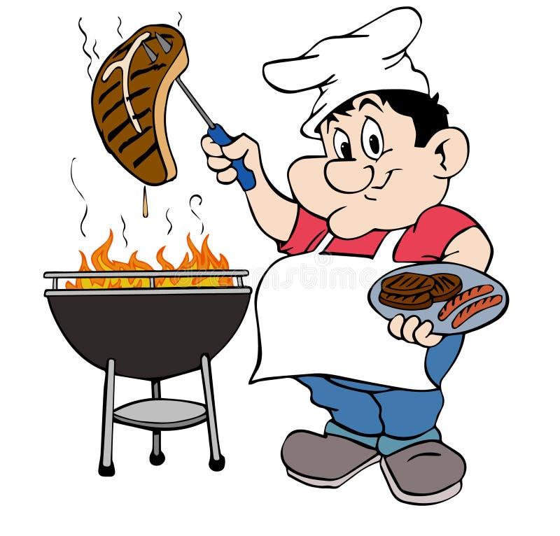 Barbecuekerel vector illustratie