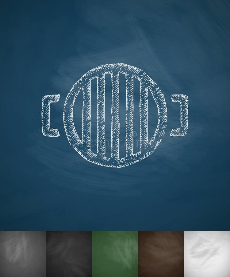 Barbecuespictogram Hand getrokken vectorillustratie stock illustratie