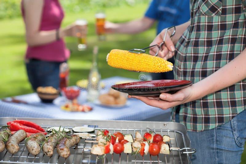 Barbecuevergadering royalty-vrije stock afbeeldingen