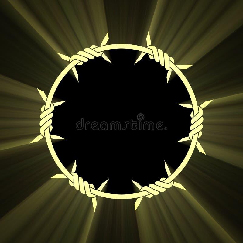 Download Barbed Circle Ring Sun Light Flare Stock Illustration - Illustration of careful, defense: 14502641