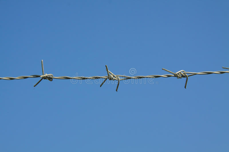 Download Barbed fence stock image. Image of military, closeup - 37439187