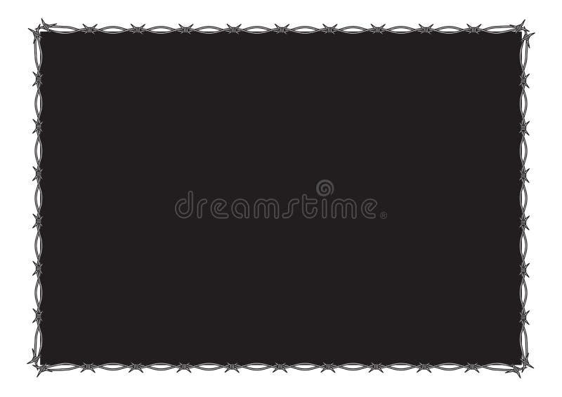 barbed rama ilustracja wektor