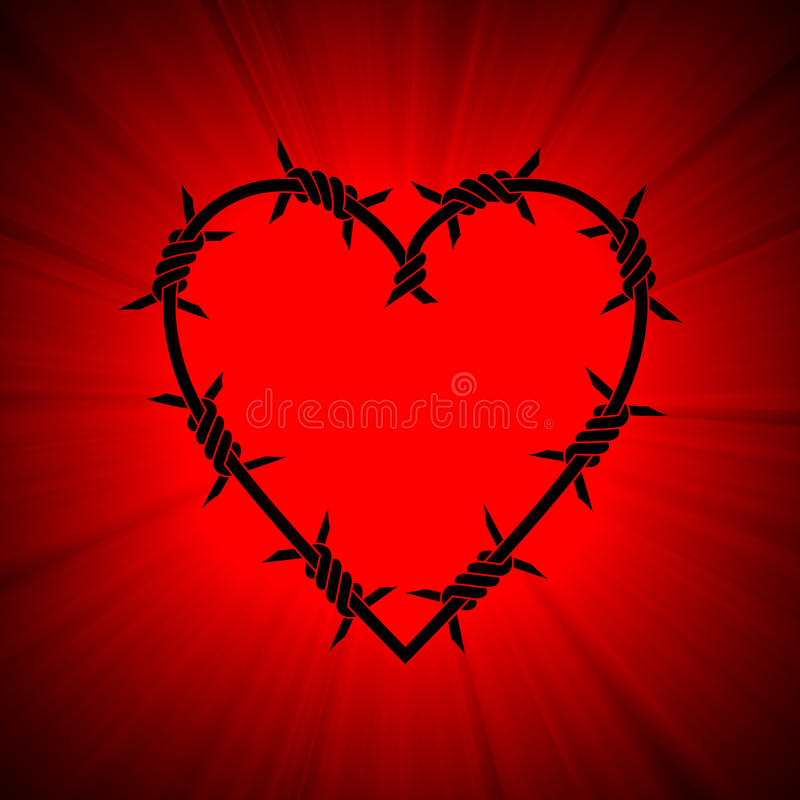 Download Barbed Spiky Heart Red Light Flare Stock Illustration - Illustration: 14503401