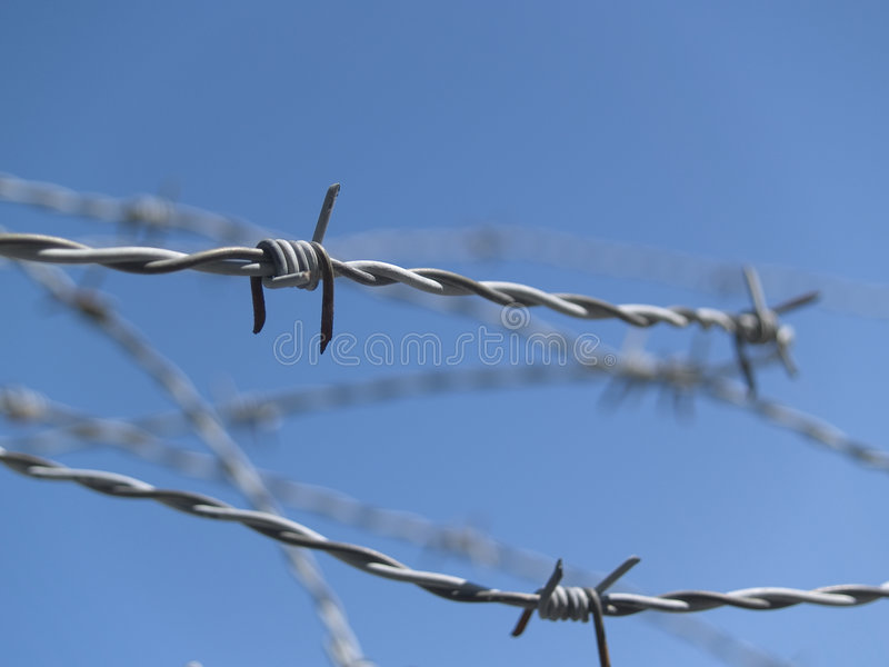 Barbed Wire 1 stock photography