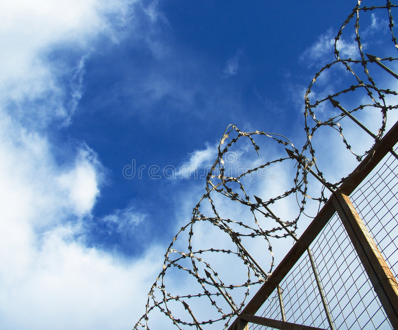 Download The barbed wire stock image. Image of clouds, wire, barbed - 139935