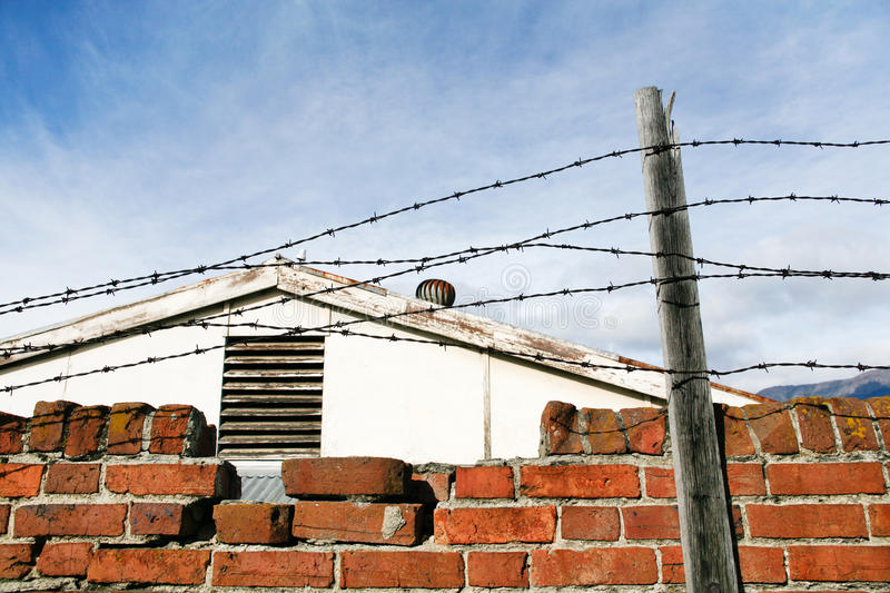 Download Barbed Wire stock photo. Image of architecture, wall - 20143792
