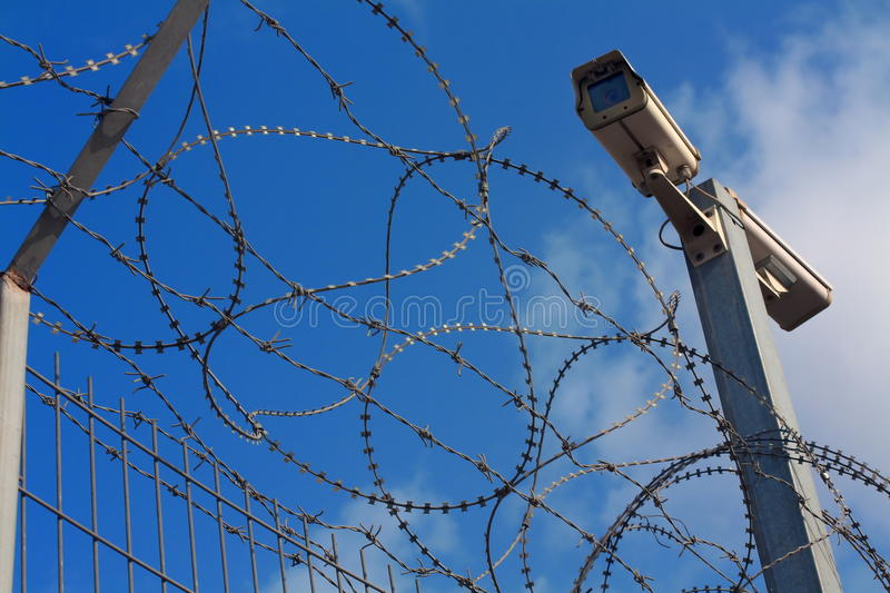 Barbed wire royalty free stock photo