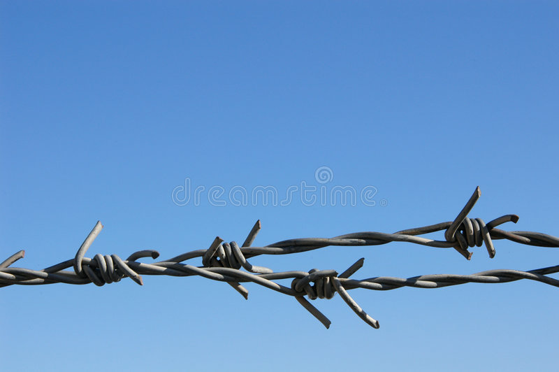 Download Barbed Wire stock photo. Image of imprisoned, convoy, fencing - 461050