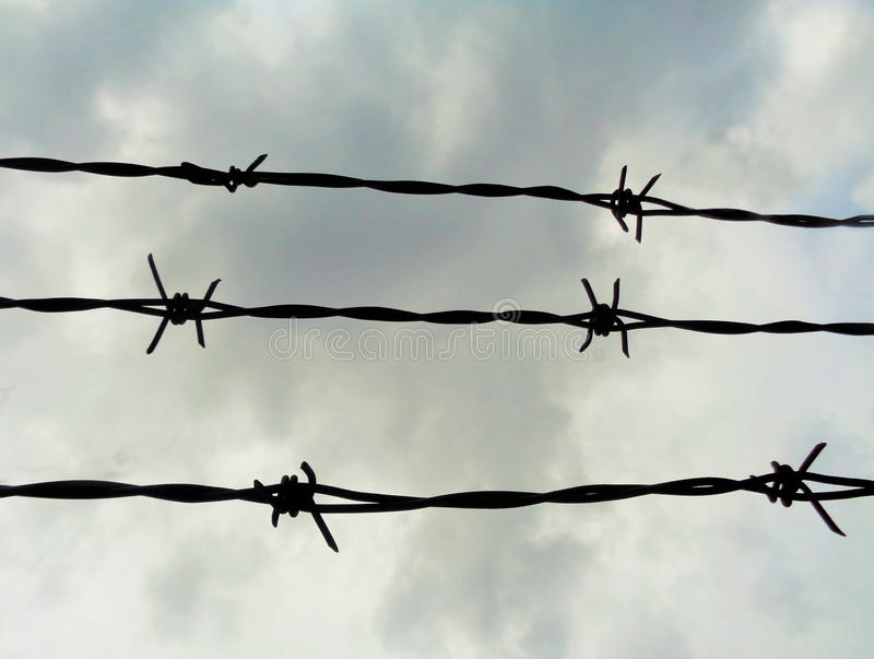 Barbed Wire Barrier royalty free stock image