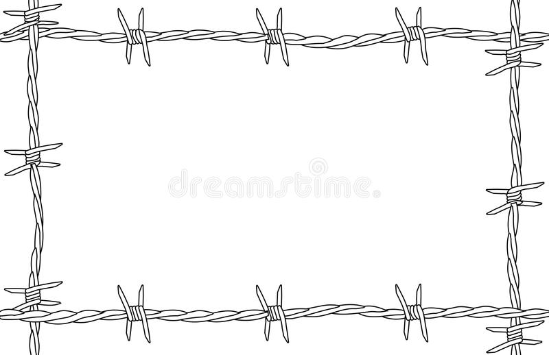 Barbed Wire Copy Space stock vector. Illustration of wire - 79959080