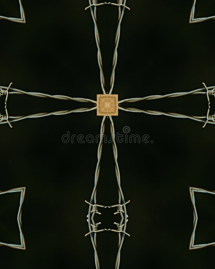 Download Barbed wire cross stock photo. Image of farm, crucifix - 1655628