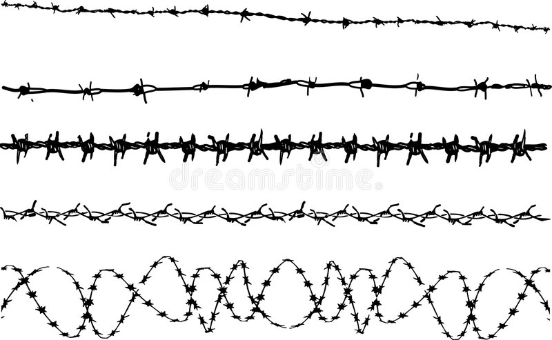 Barbed Wire Elements 3 Stock Photo