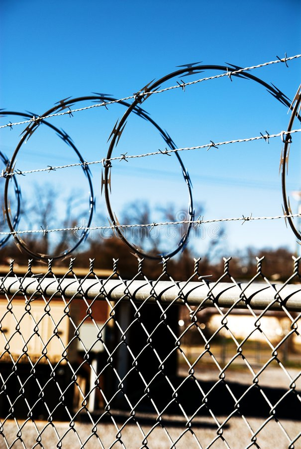 Barbed Wire fence 04 royalty free stock image