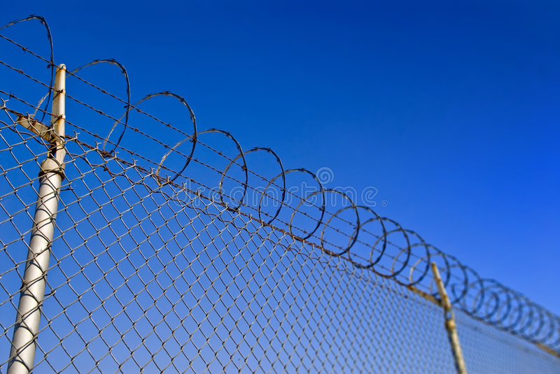 Download Barbed Wire Fence stock image. Image of security, fence - 6265349