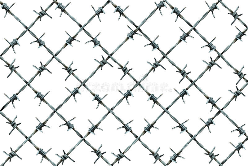 Barbed Wire Fence Pattern stock illustration Illustration of