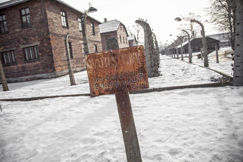 Barbed Wire Fences In Auschwitz II-Birkenau. Editorial Stock Photo ...