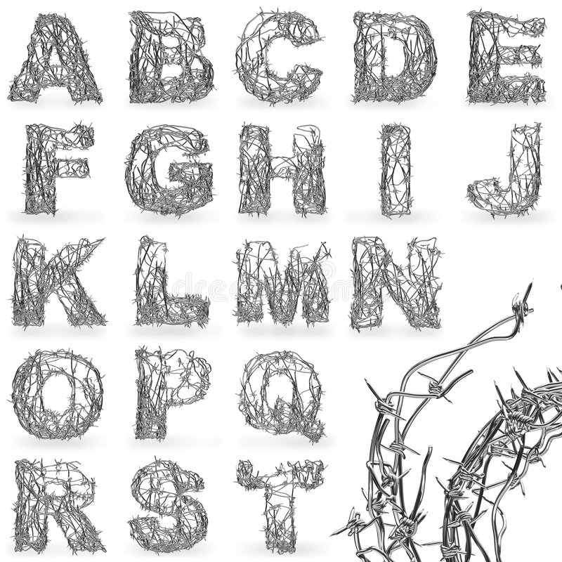 Free Barbed Wire Font Stock Photography - 7357992
