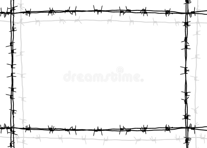 Download Barbed wire frame stock illustration. Image of barbwire - 632057