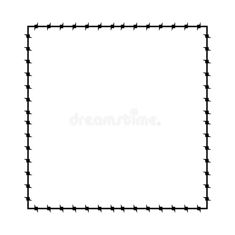 Free Barbed Wire Frame. Barb Cadre Prison Border. Vector Illustration Royalty Free Stock Photos - 127261018