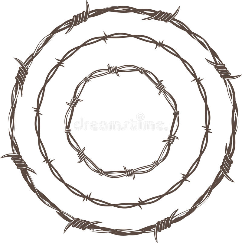 Free Barbed Wire Rings Royalty Free Stock Photo - 24090215