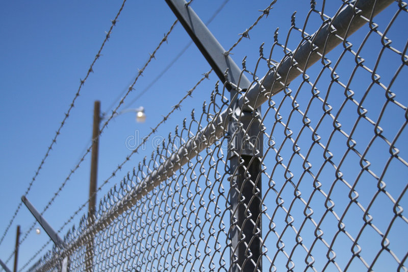 Barbed Wire & Security Lights