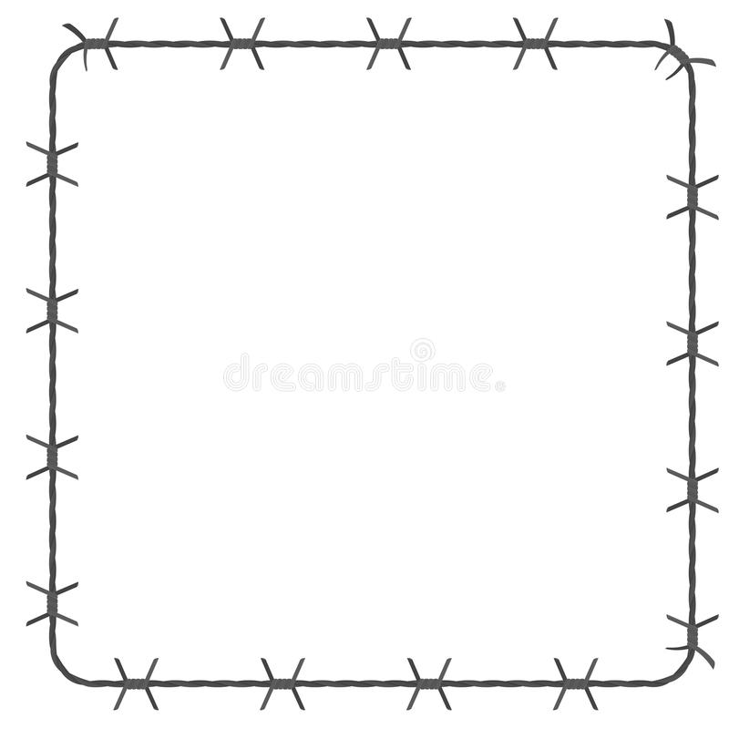 Barbed wire square border stock vector. Illustration of iron - 96272293