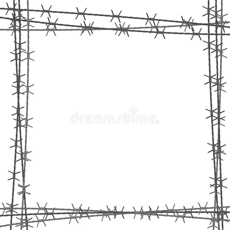 Barbed wire square border stock vector. Illustration of camp - 96272317