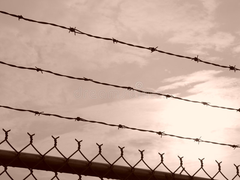 Download Barbed Wire Sunrise stock image. Image of clouds, massachusetts - 107963