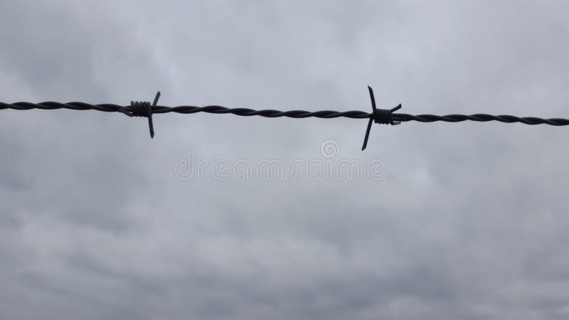 Barbed wire to heaven royalty free stock photo