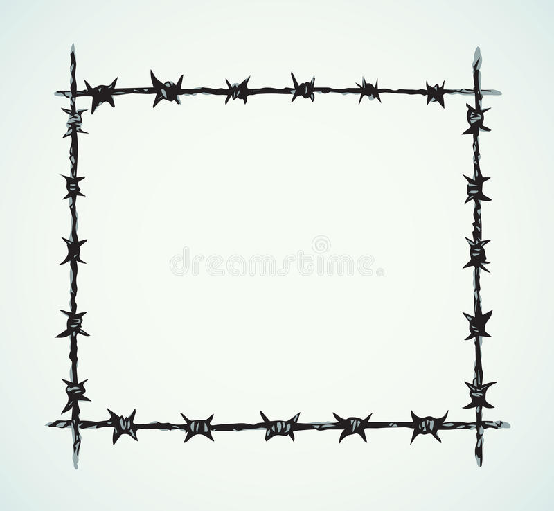 Barbed Wire. Vector Drawing Stock Vector - Illustration of icon ...