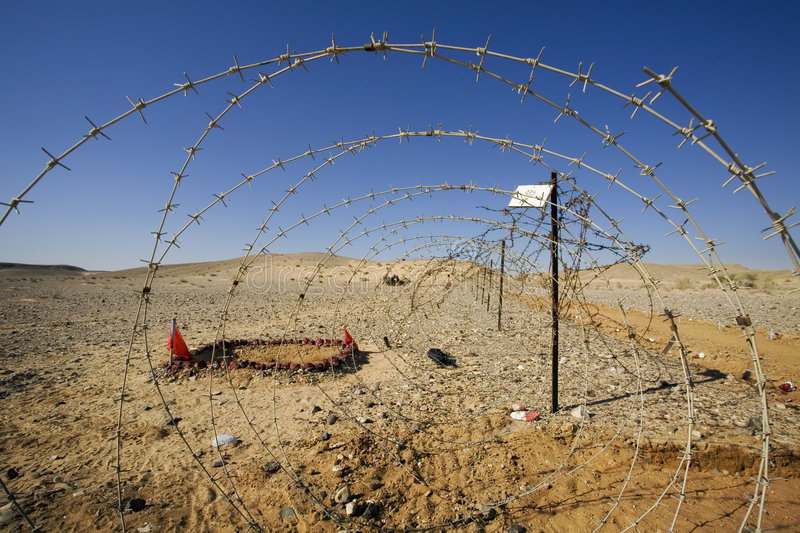 Download Barbed wires stock photo. Image of desert, free, area - 1128414