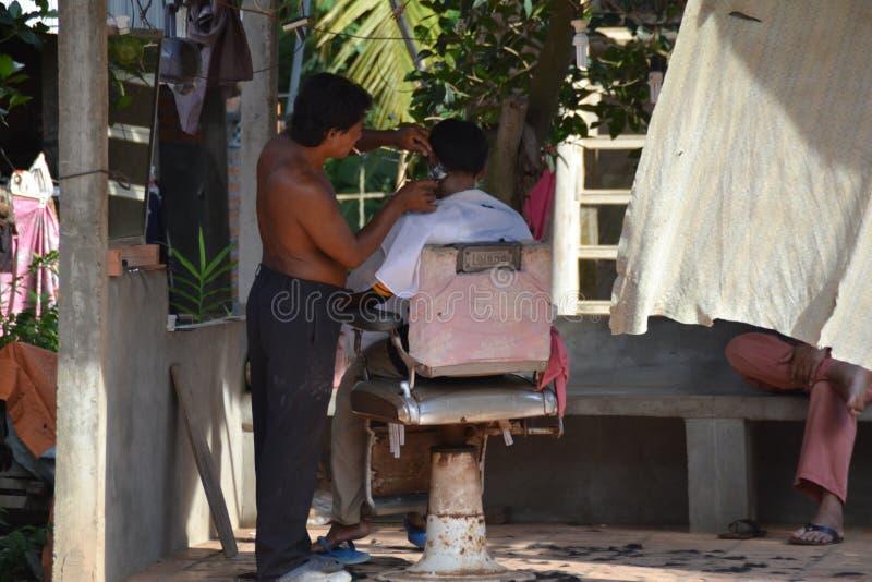 Barbeiro da rua fotos de stock