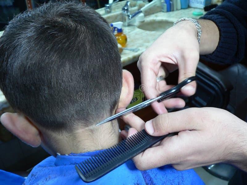 Barbeiro, o parofession de um barbar imagem de stock